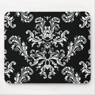 Black and white vintage damask mouse pad mouse pad