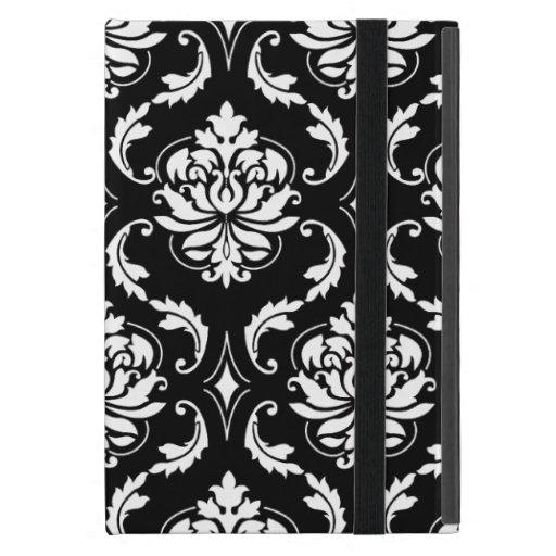 Black and White Vintage Damask Pattern Case For iPad Mini