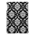 Black and White Vintage Damask Pattern iPad Mini Case