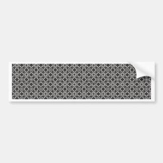 Black and White Vintage Design Bumper Sticker