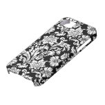 Black And White Vintage Flowers Design iPhone 5 Covers