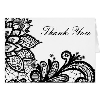 Black And White Thank You Cards | Zazzle