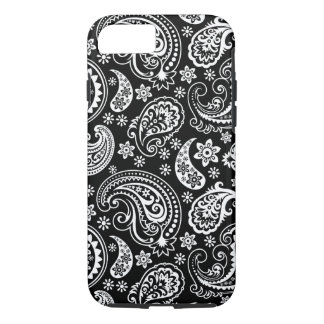 Black And White Vintage Paisley Ham Pattern iPhone 7 Case
