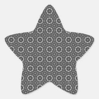 Black and White Vintage Pattern Star Sticker