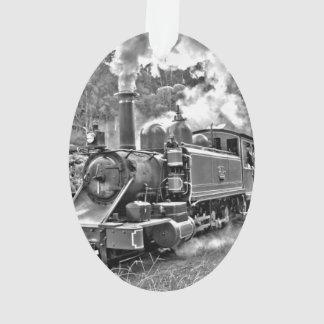 Black and White Vintage Steam Train Engine