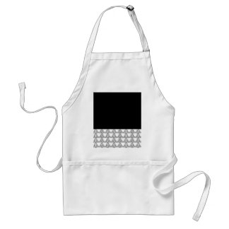 Black and White Vintage Style Adult Apron