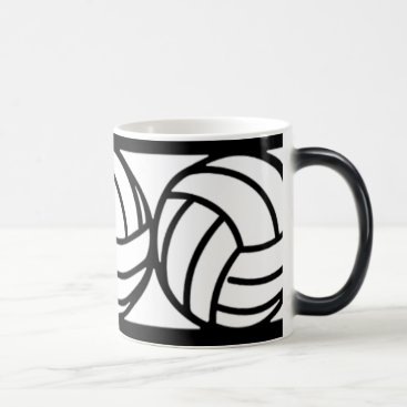 Coffee Themed Black and White Volleyball Coffee Mug