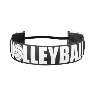 Beach Themed Black and White Volleyball Custom Headband
