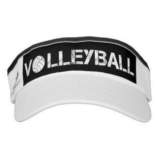 Black and White Volleyball Sport Sun Visor