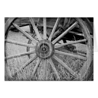 Black and White Wagon Wheel Note Cards