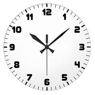 Black Wall Clocks plain minimalist black wall clocks | zazzle