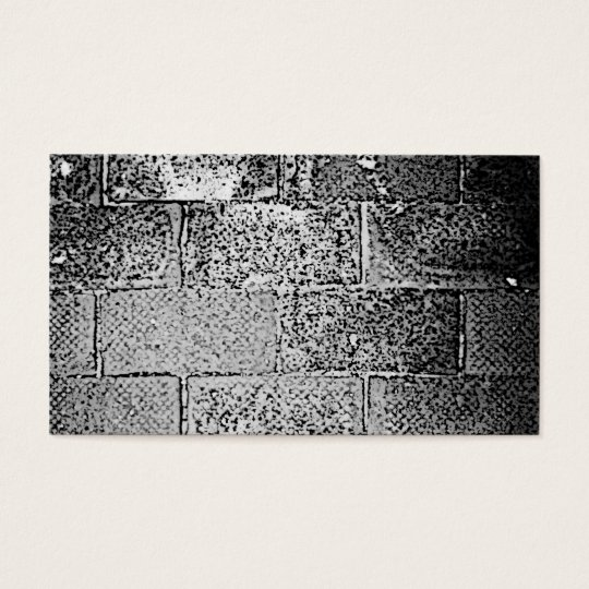 Black and White Wall. Digital Art. Business Card