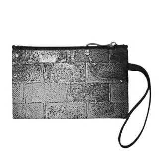 Black and White Wall. Digital Art. Coin Purse