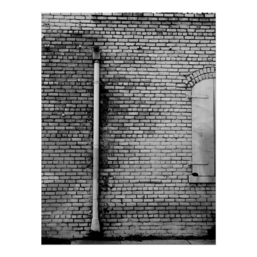 Black and White Wall Poster