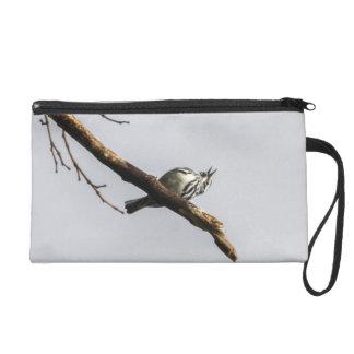 Black-and-white Warbler Wristlet Purse