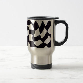 Black and White Warped Checkerboard Mug