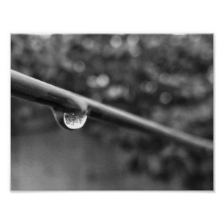 black and white water drop photo poster