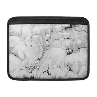 Black and white, water texture design, marbling MacBook sleeve