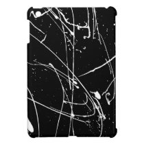 Black and white watercolor splatters pattern iPad mini cover