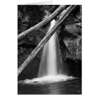 Black and white waterfall card