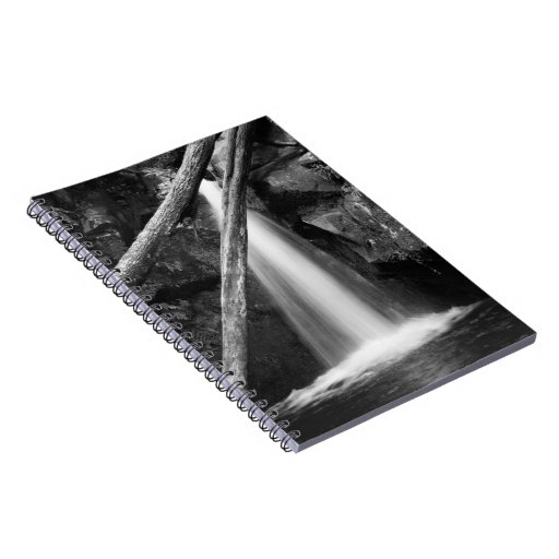Black and white waterfall notebooks