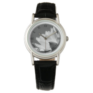 Black and White Waterlily Watch