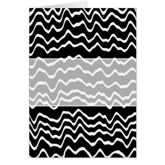 Black and White Wave Pattern. Card