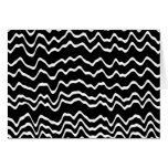 Black and White Wave Pattern. Greeting Cards