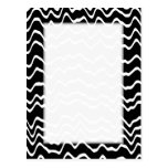 Black and White Wave Pattern. Post Card