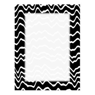 Black and White Wave Pattern. Postcard