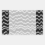Black and White Wave Pattern. Sticker