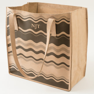 Black and White Wave Pattern Tote