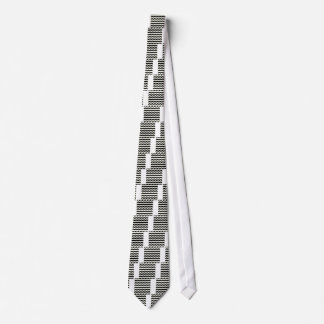 Black and white waves 50s edition tie