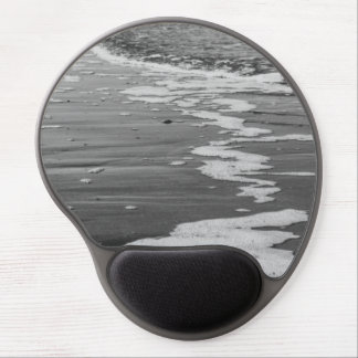 Black and White Waves Photograph Gel Mouse Pad