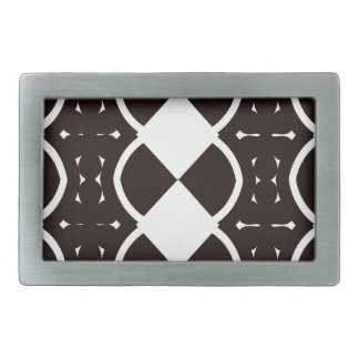 Black and White Weaves Rectangular Belt Buckle