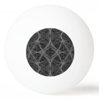 Black and White Web Ping Pong Ball