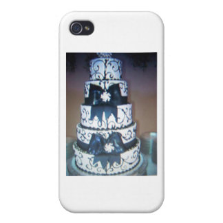 black and white wedding cake cover for iPhone 4