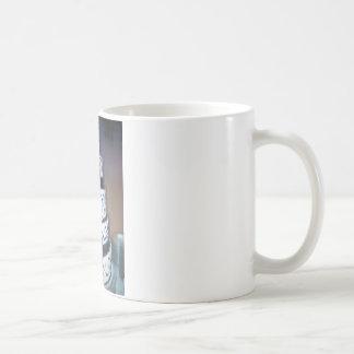 black and white wedding cake mugs