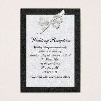 Black and White Wedding Enclosure Card