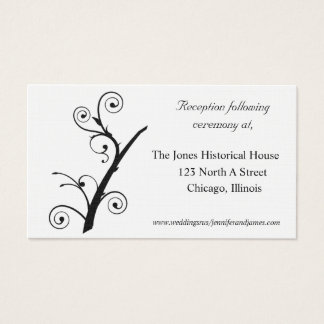 Black and White Wedding enclosure cards