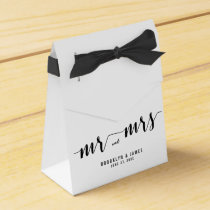 Black And White Wedding Favor Boxes Tent