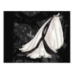 Black and White Wedding Gown Announcement
