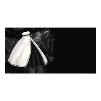 Black and White Wedding Gown Card