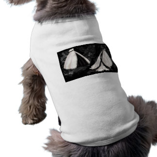 Black and White Wedding Gown Dog Shirt