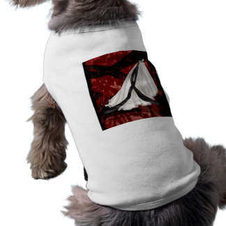 Black and White Wedding Gown Dog Tee