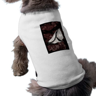 Black and White Wedding Gown Dog Tee Shirt