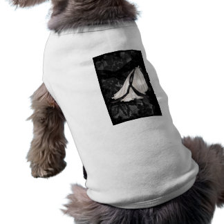 Black and White Wedding Gown Doggie Tee