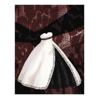 Black and White Wedding Gown Flyer