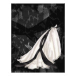 Black and White Wedding Gown Full Color Flyer