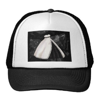 Black and White Wedding Gown Hats